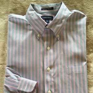 Men's Button Down Long Sleeve Pinpoint Oxford